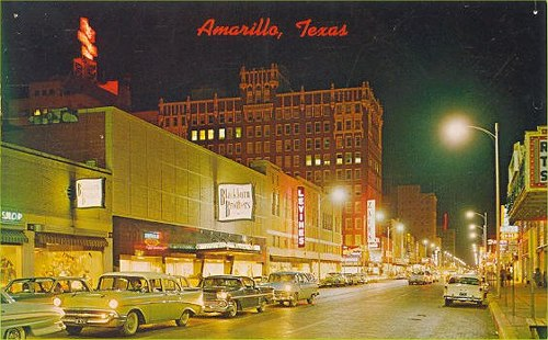 Downtown at night - 1950's