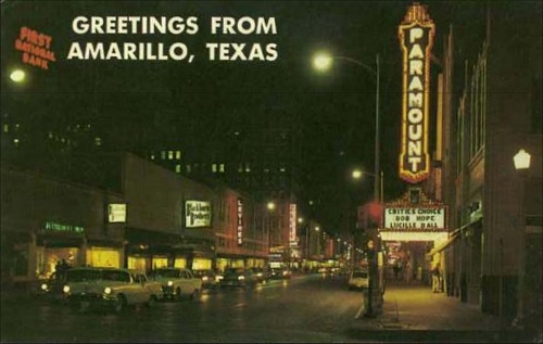 Greetings From Amarillo - 1950's