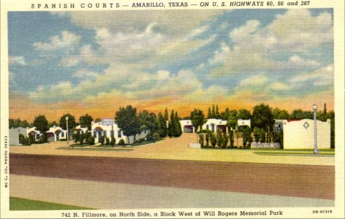 Spanish Courts Motel - 1950's