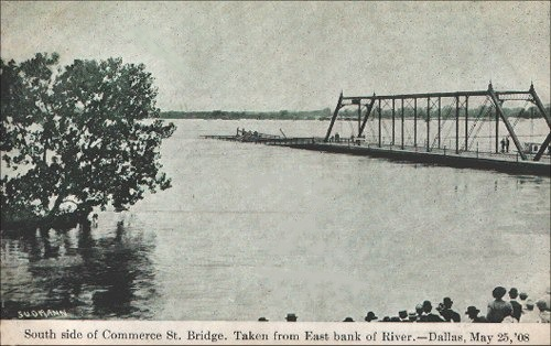 Commerce Street Bridge - Flooded 1908