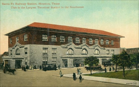 Santa Fe Railway Station - Largest In The Southwest - 1910
