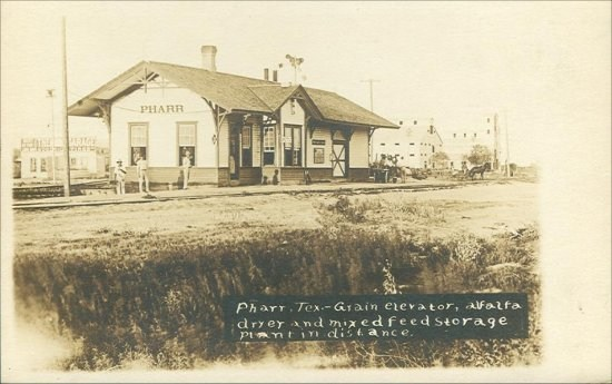 Depot With Grain Elevator In Background - 1908
