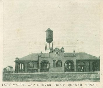 Depot, Ft Worth & Denver - 1908