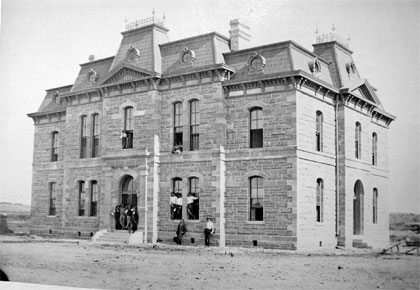 Blanco County Courthouse ca. 1885