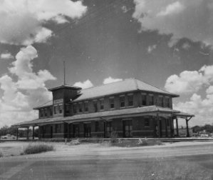 Front of Santa Fe Train Station