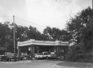 Gas Station, Former, at 600 Block of East Houston